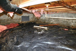 Crawl Space Repair Before in San Jose
