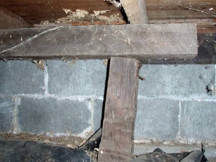 Repairing sagging floor joists girders in your crawl Crawl space flooring