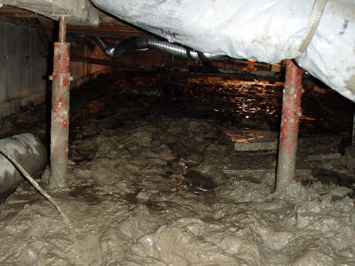 Sagging floor repair san francisco san jose sacramento for Crawl space foundation