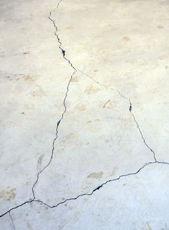 severely cracked, heaving slab floors in a home in Napa