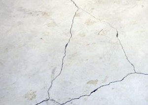 cracks in a slab floor consistent with slab heave in Redwood City.
