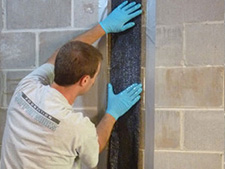 CarbonArmor® Strip applied to wall in Stockton