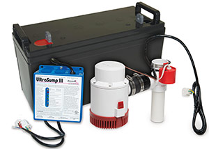 a battery backup sump pump system in Sunnyvale