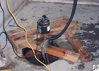 A Daly City sump pump system that failed and lead to a basement flood.