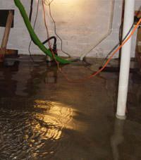 Several feet of floodwaters in a Mountain View basement