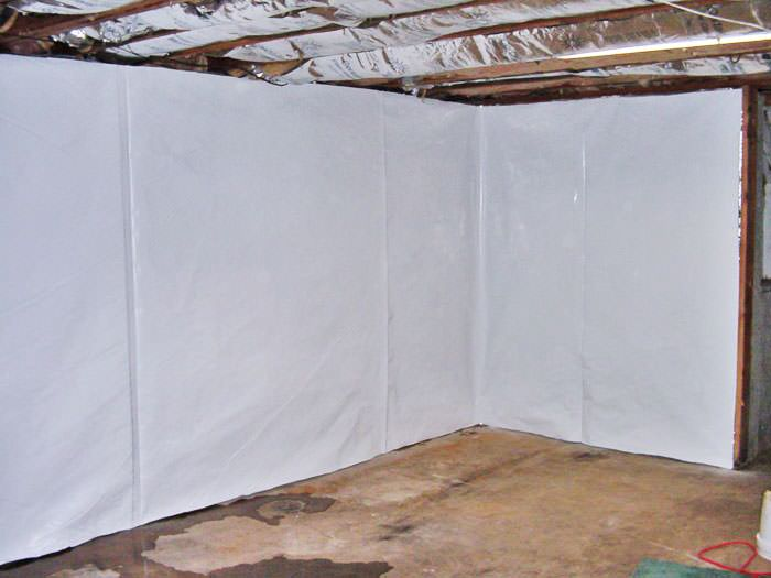 Basement Wall Vapor Barrier System In Sacramento Fresno